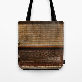 Vintage Photography of Wooden Tube Radio Tote Bag