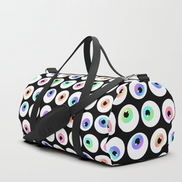 Lovely Sparkly Rainbow Eyeballs Duffle Bag