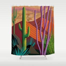 Cactus on Mountaintop Shower Curtain