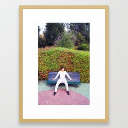 In the park Framed Art Print