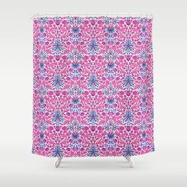 William Morris Hyacinth Print, Fuchsia Pink Shower Curtain