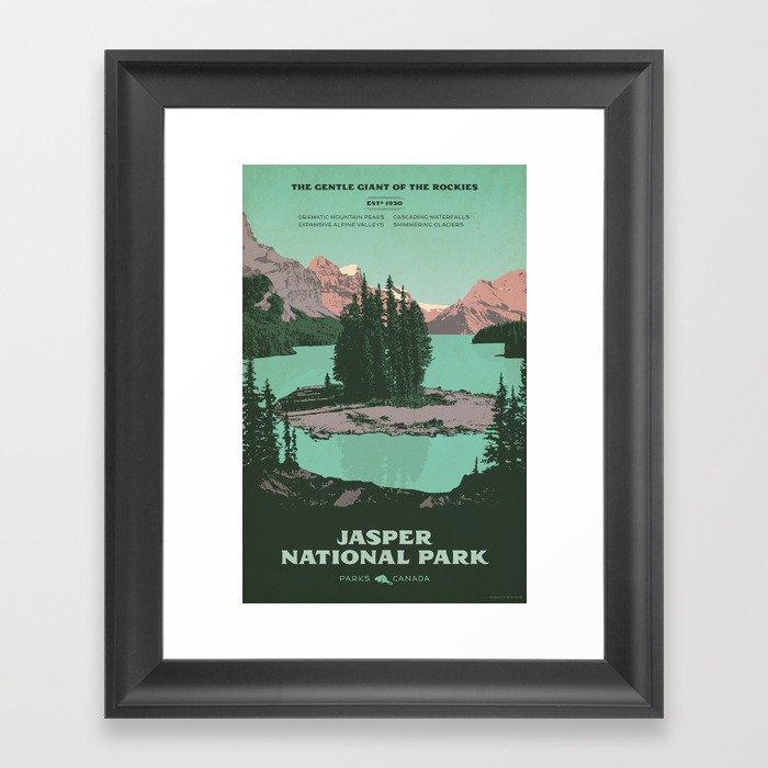 Jasper National Park Poster Gerahmter Kunstdruck
