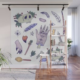 Witch tools Wall Mural