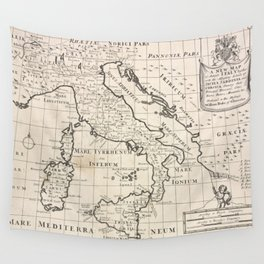 Vintage Map of Italy (1700) Wall Tapestry