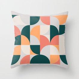 Mid Century Geometric 17 Throw Pillow