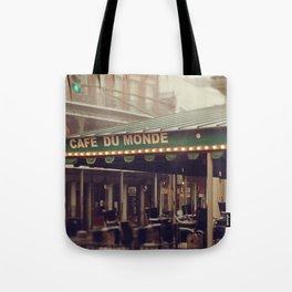 Foggy Cafe Du Monde Tote Bag