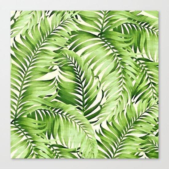 Greenery palm leaves Canvas Print