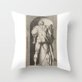 Hercules Behind Throw Pillow