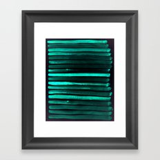 We Have Cold Winter Teal Dreams At Night Framed Art Print