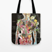 skeleton Tote Bags featuring Skeleton by Ben Giles