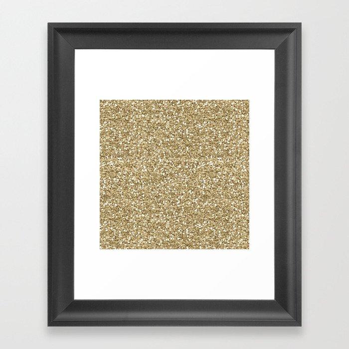 Glitter - Gold 1. Gerahmter Kunstdruck