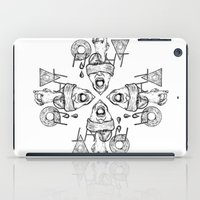 fight iPad Cases featuring Fight by Benson Koo