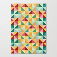 candy Canvas Prints featuring Candy by According to Panda
