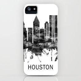 Houston Texas Skyline BW iPhone Case