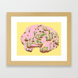 Brain Terrarium Framed Art Print