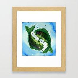 Pisces Zodiac Horoscope Painting Framed Art Print