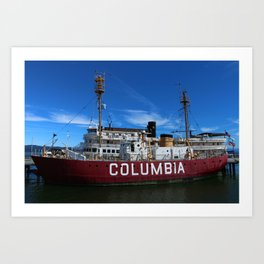 Fireship Columbia Art Print