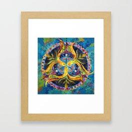 Pond Mandala Framed Art Print