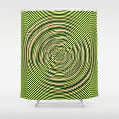 Warped Rings Shower Curtain