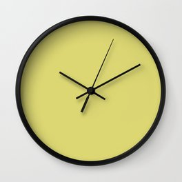 Evanescent Beauty ~ Celery Green Wall Clock