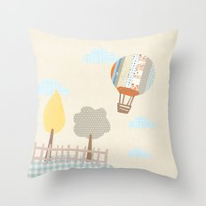 baloon collage Throw Pillow