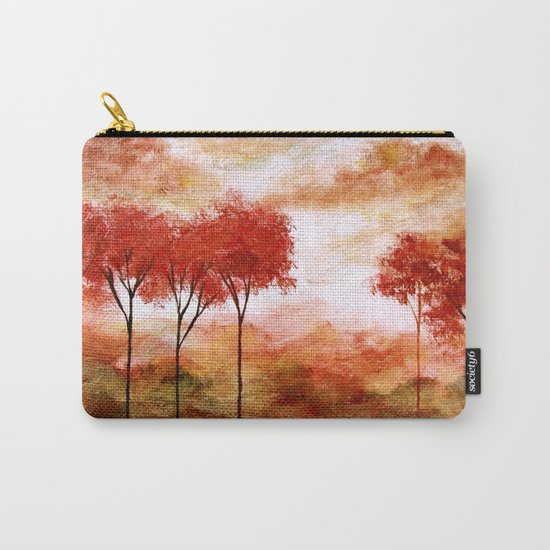 Burning Promise, Abstract Landscape Art Carry-All Pouch