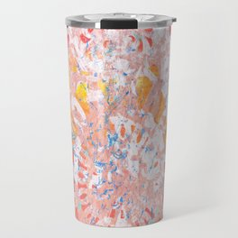 Monoprint 3 - Red Yellow Blue Monoprint Travel Mug