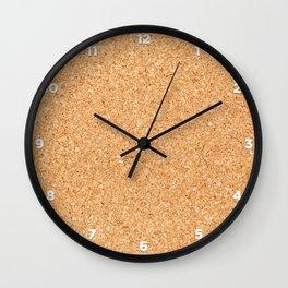 Cork board Wall Clock