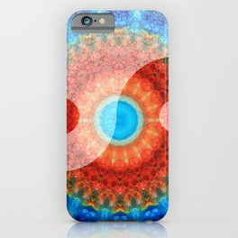 Chinese Symbol Art - Ideal Balance Yin and Yang by Sharon Cummings iPhone Case