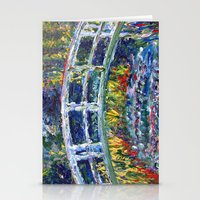 monet Stationery Cards featuring Monet Interpretation by Britt Miller Art