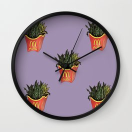 Mc Peas' RAW FRENCH FRIES Wall Clock