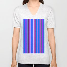 Stripes-010 Unisex V-Neck