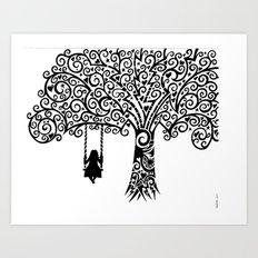 In silence Art Print