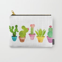 Cactus Plants In Pretty Pots Carry-All Pouch