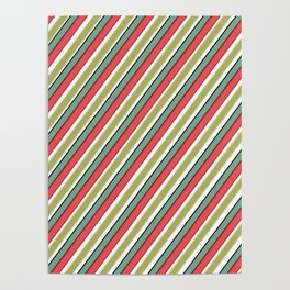 Striped pattern 10 Poster