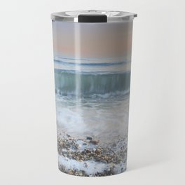 """Looking at the waves III"" Sea dreams Travel Mug"