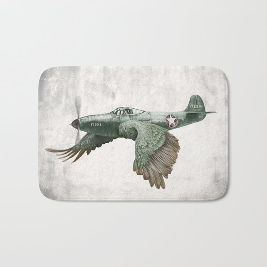 In which it's a bird. It's a plane. (Now in technicolour) Bath Mat