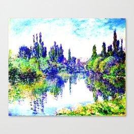 Claude Monet - Morning on the Seine, near Vetheuil 1878 Canvas Print