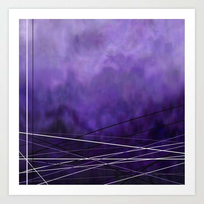 Abstract Purple Art Print