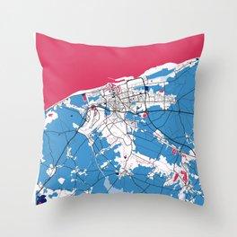 Calais - France MilkTea City Map Throw Pillow