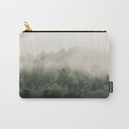 Forest Fog Photography | Woods | Misty | Mist | Forest Dew | Kaszuby Canada | Nature Photography Carry-All Pouch