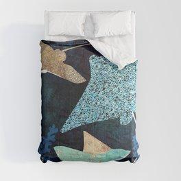Metallic Stingray II Comforters