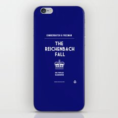 BBC Sherlock The Reichenbach Fall Minimalist Poster iPhone & iPod Skin
