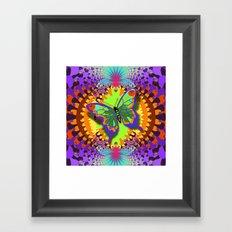 Butterfly summer Framed Art Print