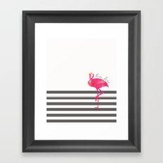 Live Free Flamingo  Framed Art Print