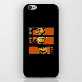 the good ,the bad , and the evil iPhone Skin