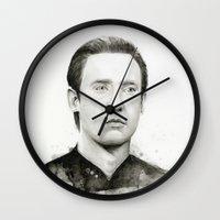 data Wall Clocks featuring Star Trek: Data by Olechka
