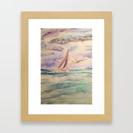 sailing ship lake constance Framed Art Print