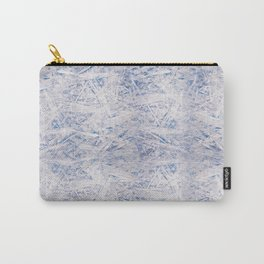 Blue chipboard texture abstract Carry-All Pouch