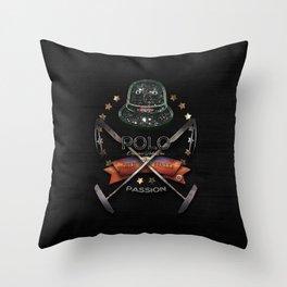 polo black label Throw Pillow